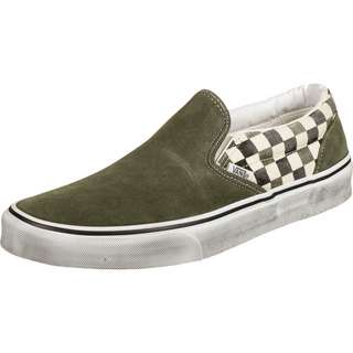 Vans Slip-On Slipper oliv/kariert