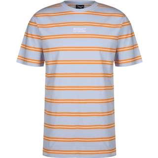 iriedaily Bro Stripe T-Shirt Herren blau/orange/gestreift