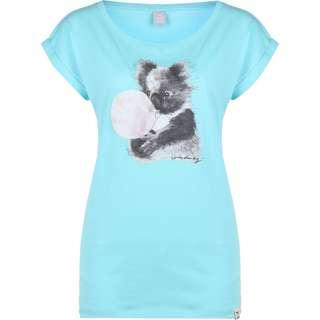 iriedaily Koala Bubble W T-Shirt Damen blau