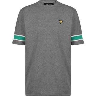 Lyle & Scott Sleeve Rib Insert T-Shirt Herren grau/meliert
