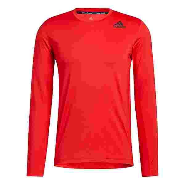 adidas Techfit Compression Longsleeve T-Shirt Herren Rot