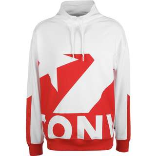 CONVERSE Printed Sweatshirt Herren rot/weiß