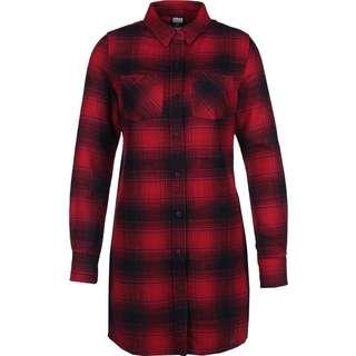 Urban Classics Check Shirt Kurzarmkleid Damen rot/kariert