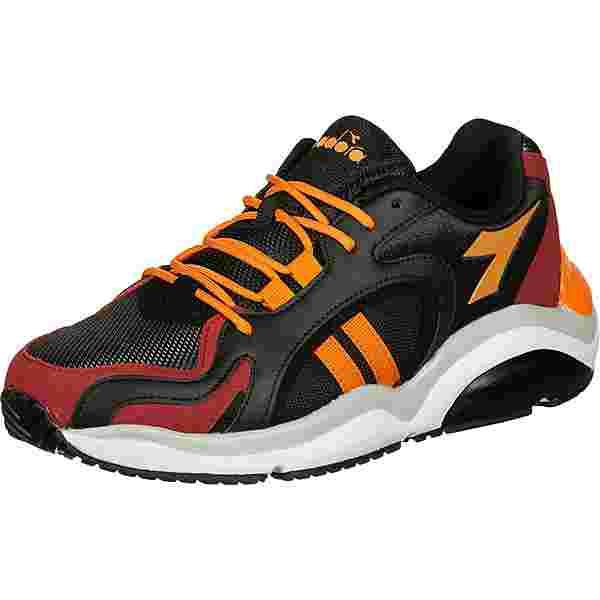 Diadora WHIZZ 370 Sneaker Herren schwarz/rot