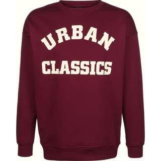 Urban Classics College Print Crew Sweatshirt Herren weinrot