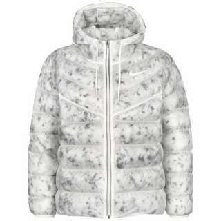 Nike Synthetic Outdoorjacke Damen weiß / grau