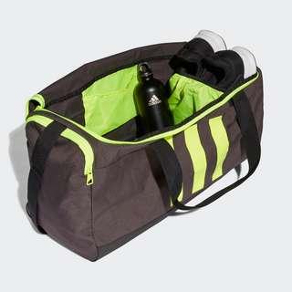 adidas Essentials 3-Streifen Duffelbag Medium Sporttasche Herren Dgh Solid Grey / Black / Solar Yellow