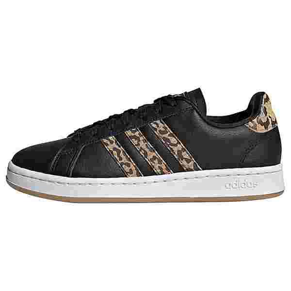adidas Grand Court Schuh Sneaker Damen Core Black / Core Black / Cardboard