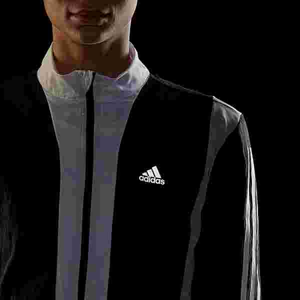 adidas Running Track Jacke Funktionsjacke Damen Black / Halo Silver / White
