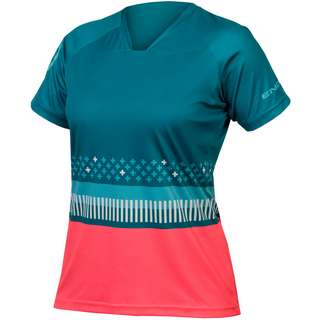 Endura SingleTrack Print TFichtgrün Trikot Damen fichtgrün
