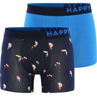 HAPPY SHORTS Trunks #2 Boxer Herren Blau