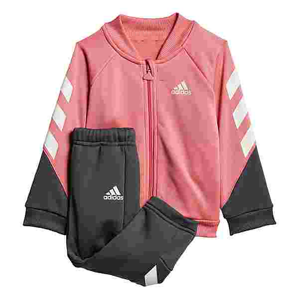 adidas Mini Me XFG Trainingsanzug Trainingsanzug Kinder Hazy Rose / White