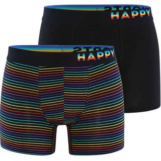 HAPPY SHORTS Trunks #2 Boxer Herren Schwarz/Bunt