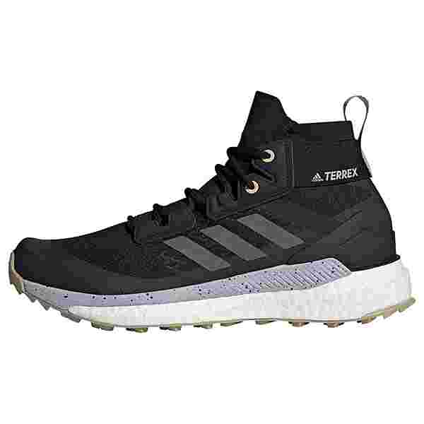 adidas TERREX Free Hiker Primeblue Wanderschuh Wanderschuhe Damen Core Black / Grey Four / Savanna