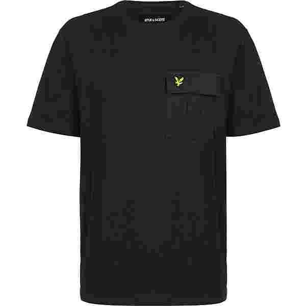 Lyle & Scott Cotton Ripstop Pocket T-Shirt Herren schwarz