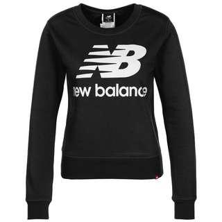 NEW BALANCE Essentials Crew Sweatshirt Damen schwarz / weiß