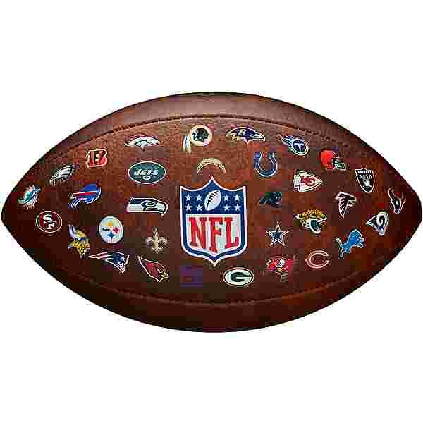 Wilson NFL OFF THROWBACK 32 TEAM Football brown