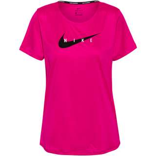 Nike Swoosh Funktionsshirt Damen fireberry-reflective silv