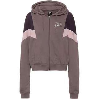 Nike NSW Heritage Sweatjacke Damen purple smoke/dark raisin/white