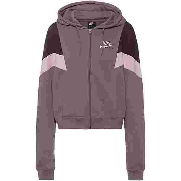 Nike NSW Heritage Sweatjacke Damen purple smoke-dark raisin-white