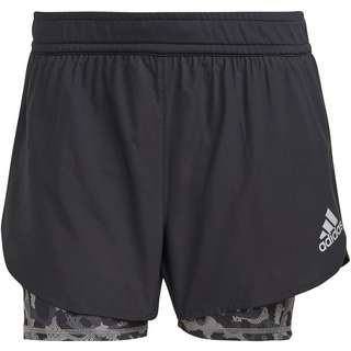 adidas P.BLUE 2IN1 SUPERNOVA AEROREADY Funktionsshorts Damen black-grey four