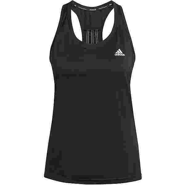 adidas 3-STRIPES DESIGNED2MOVE AEROREADY Funktionstank Damen black-white