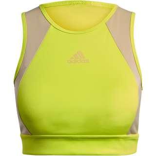 adidas ACTIVATED TECH DESIGNED2MOVE AEROREADY BH Damen acid yellow