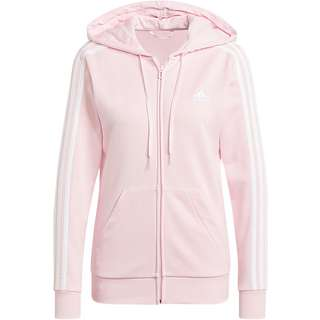 adidas 3-STRIPES SPORT ESSENTIALS Sweatjacke Damen clear pink-white