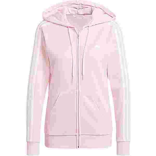 adidas 3-STRIPES SPORT ESSENTIALS Sweatjacke Damen clear pink-white