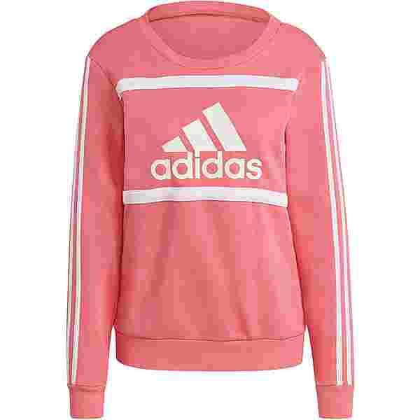 adidas SPORT ESSENTIALS Sweatshirt Damen hazy rose-white