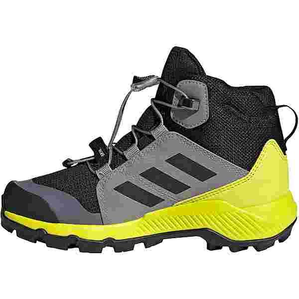 adidas GTX TERREX MID Multifunktionsschuhe Kinder core black/grey three/acid yellow