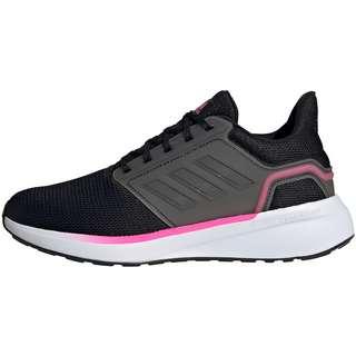 adidas EQ19 RUN Laufschuhe Damen core black-iron met.-screaming pink