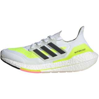 adidas ULTRABOOST 21 Laufschuhe Damen ftwr white-core black-solar yellow