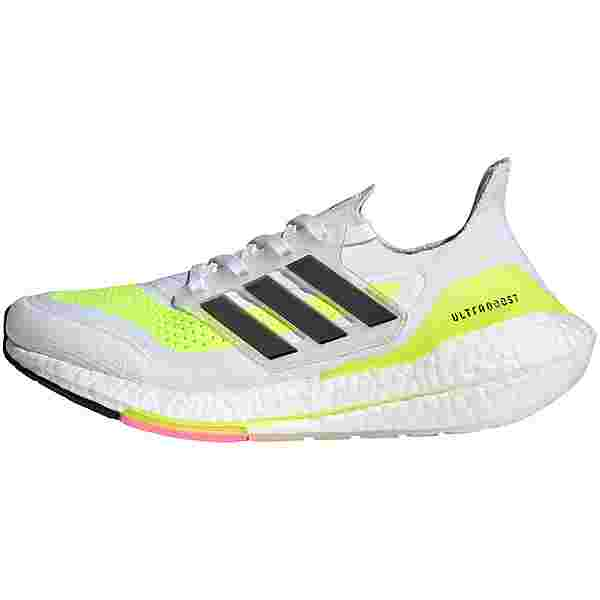 adidas ULTRABOOST 21 Laufschuhe Damen ftwr white-core black-solar yellow