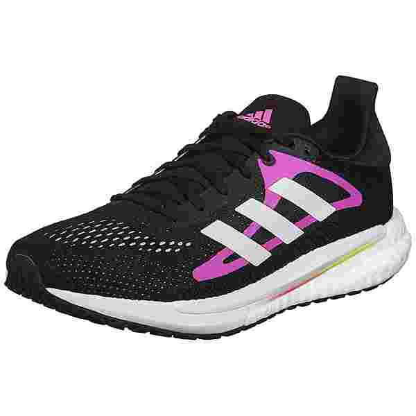 adidas SOLAR GLIDE 3 W Laufschuhe Damen core black-ftwr white-screaming pink