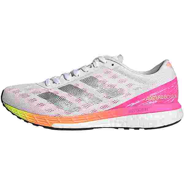 adidas ADIZERO BOSTON 9 Laufschuhe Damen ftwr white-silver met.-screaming pink