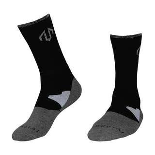 MOROTAI Reflective Socks Crew (1Paar) Sportsocken Schwarz