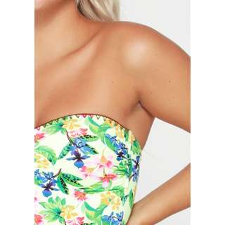 LingaDore Badeanzug Damen Blumendruck