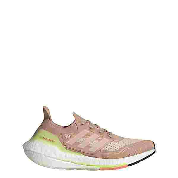 adidas Ultraboost 21 Laufschuh Laufschuhe Damen Ash Pearl / Cloud White / Halo Ivory