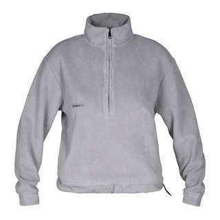 MOROTAI Sherpa Half Zip Sweatshirt Damen Steel Grey
