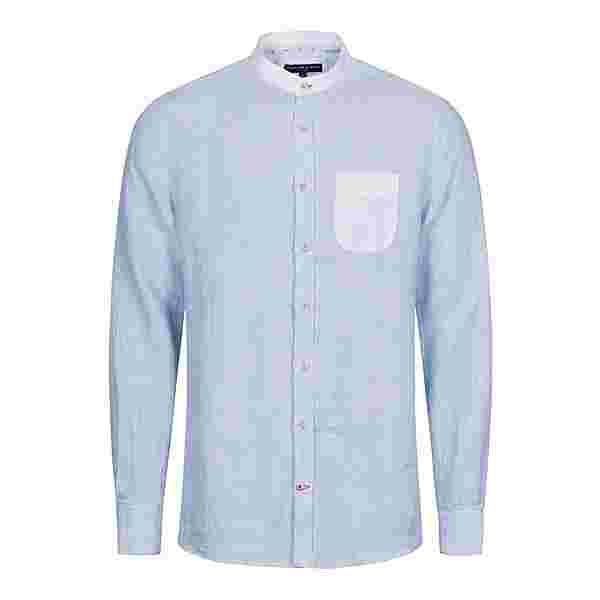 Colours & Sons Louis Langarmhemd Herren blau