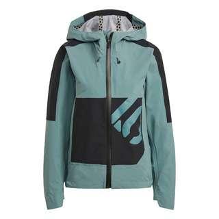adidas Five Ten Bike All-Mountain Regenjacke Funktionsjacke Damen Hazy Emerald / Black