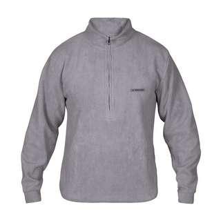 MOROTAI Sherpa Half Zip Sweatshirt Herren Steel Grey