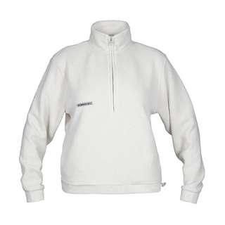 MOROTAI Sherpa Half Zip Sweatshirt Damen Cremeweiß