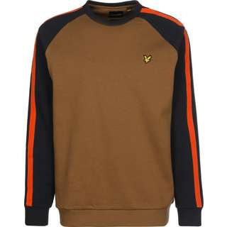 Lyle & Scott Colour Block Crew Neck Sweatshirt Herren braun