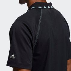 adidas Equipment Zip Piqué Poloshirt Poloshirt Herren Schwarz