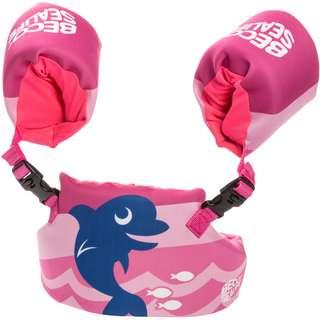 BECO BEERMANN Sealife Learn to Swim Set Neopren Schwimmhilfe Kinder blau pink