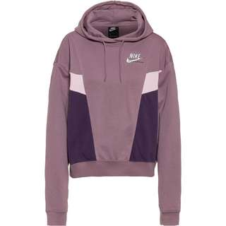 Nike NSW Heritage Hoodie Damen purple smoke/dark raisin/white