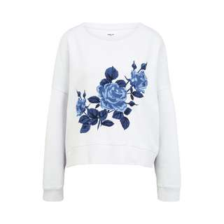 REPLAY mit Stickerei Sweatshirt Damen white