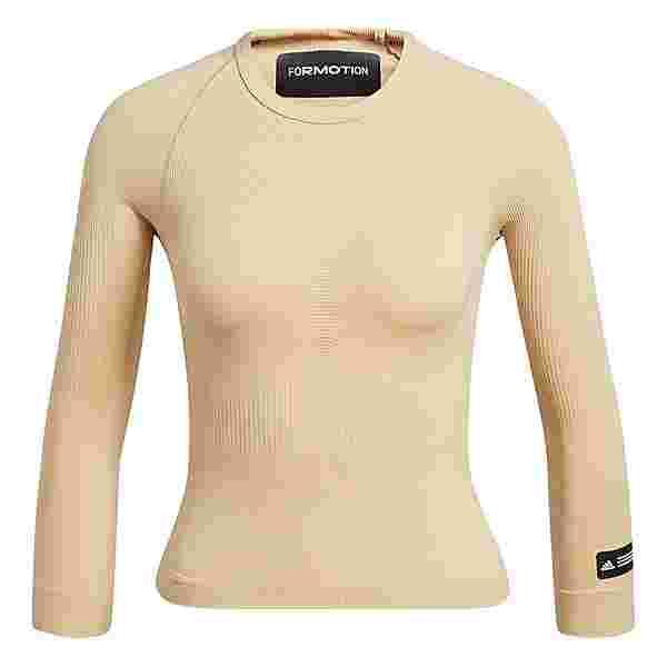 adidas Formotion Cropped Training Oberteil T-Shirt Damen Beige
